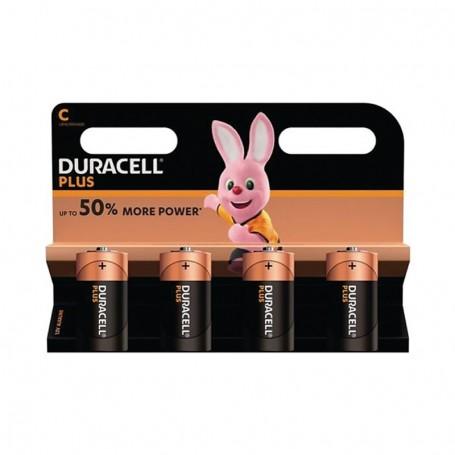 Pilhas Alcalinas Duracell Plus Power C 4 Pack