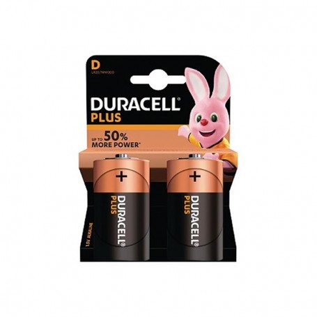 Pilhas Alcalinas Duracell Plus Power D 2 Pack