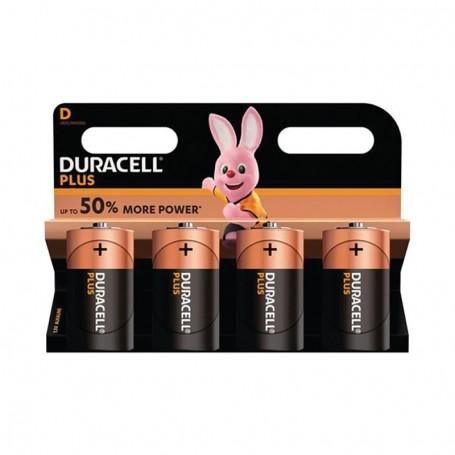 Pilhas Alcalinas Duracell Plus Power D 4 Pack