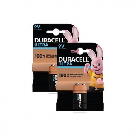 Pilhas Alcalinas Duracell Ultra Power 9V 2 Pack