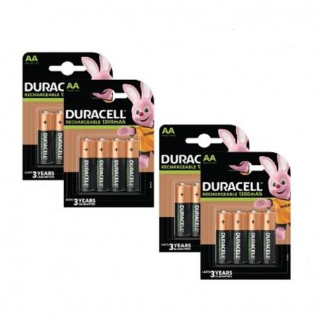 Pilhas Recarregável Duracell AA 1300mAh 16 Pack