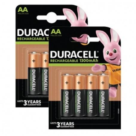 Pilhas Recarregável Duracell AA 1300mAh 8 Pack