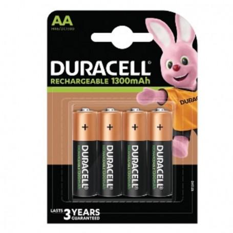 Pilha Duracell Recarregável AA 1300mAh 4 Pack