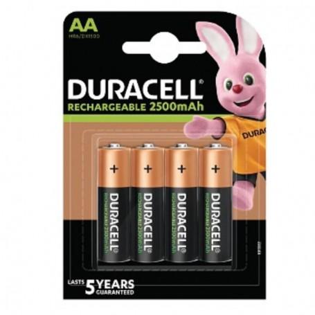Pilhas Recarregável Duracell AA 2500mAh 4 Pack