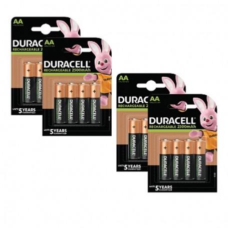 Pilhas Recarregável Duracell AA 2500mAh 16 Pack