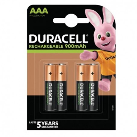 Pilhas Recarregável Duracell AAA 750mAh 4 Pack