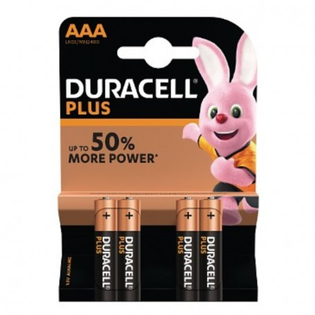 Pilhas Alcalinas Duracell Plus Power AAA 4 Pack