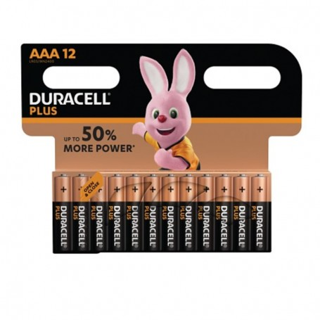 Pilhas Alcalinas Duracell Plus Power AAA 12 Pack