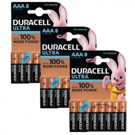 Pilhas Alcalinas Duracell Ultra Power AAA 24 Pack