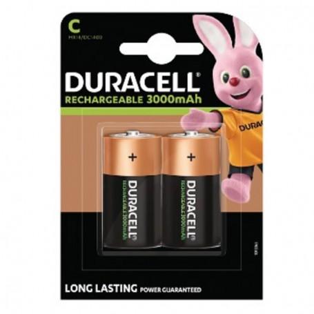 Pilha Duracell Recarregável Tipo C 3000mAh 2 Pack