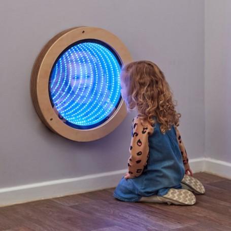Espelho Circular Infinito com Iluminação TTS
