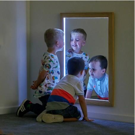 Retângulo de Espelho  com Iluminação TTS