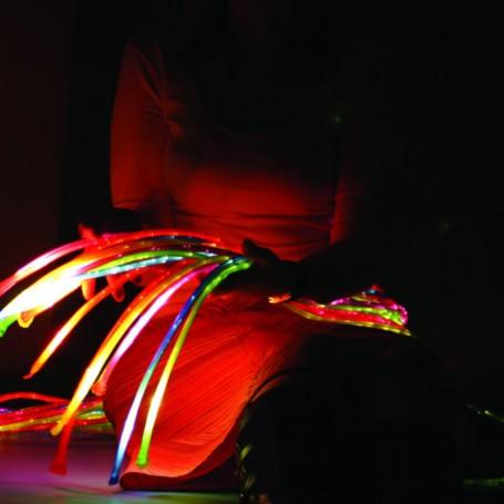 Fibras Óticas Jumbo 1 mts c/ Luz LED TFH
