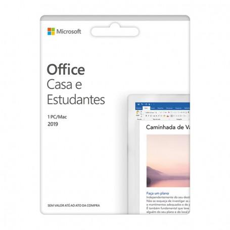 Cartão Microsoft Office Casa e Estudante 2019 PT