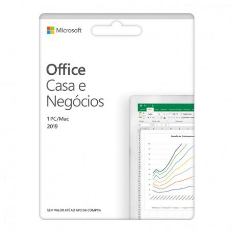 Cartão Microsoft Office Casa e Negócios 2019 PT
