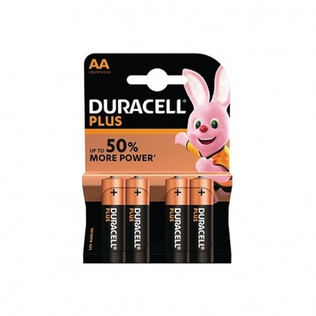 Pilhas Alcalinas Duracell Plus Power AA 4 Pack
