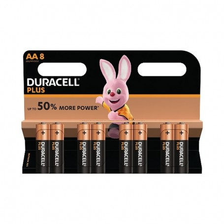 Pilhas Alcalinas Duracell Plus Power AA 8 Pack
