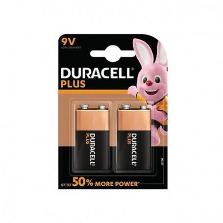Pilhas Alcalinas Duracell Plus Power 9V 2 Pack